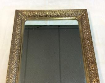 c.1950 -1960's  Gold Filigree Vanity Mirror Tray