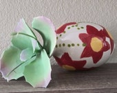 Handmade Glazed Upside Down Flowers Ceramic Air Plant Vase, Hanging vase, planter, air plant holder Signed