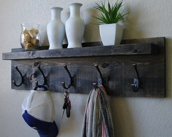 Glencarlyn Coat Rack w/ Floating Shelf