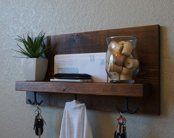 Modern Rustic Entry Coat Rack Shelf