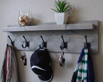 Maiselle Coat Rack with Floating Shelf