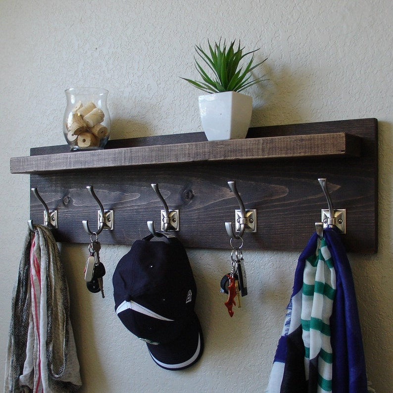 Barcroft Coat Rack with Floating Shelf image 0