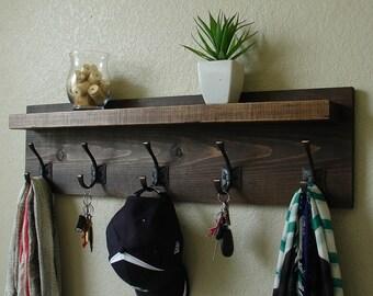 Claremont Coat Rack w/ Floating Shelf