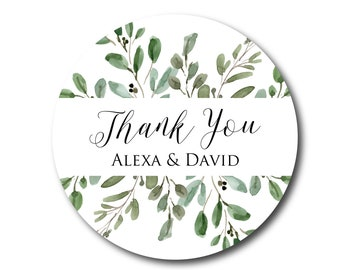 Olive Branch Wedding Stickers Wedding Favor Stickers Thank You Stickers Greenery Botanical Wedding Favor Tags Wedding Labels for Favors