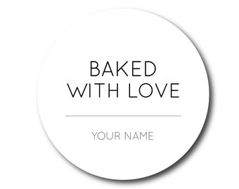 Baked With Love Stickers From the Kitchen of Stickers Baked with Love Labels Kitchen Labels Chef Bakery Stickers Made with Love Sticker