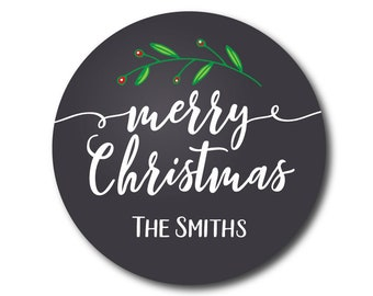 Christmas Stickers Christmas Gift Labels Holiday Labels Holiday Gift Tags Christmas Present Labels Christmas Gift Tags Chalkboard Script