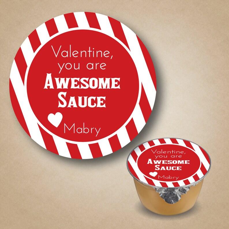 Valentine Stickers Awesome Sauce Stickers Kids Valentine image 0