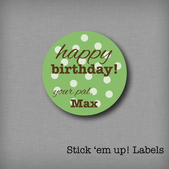 Custom Kids Birthday Tags Personalized Gift Stickers