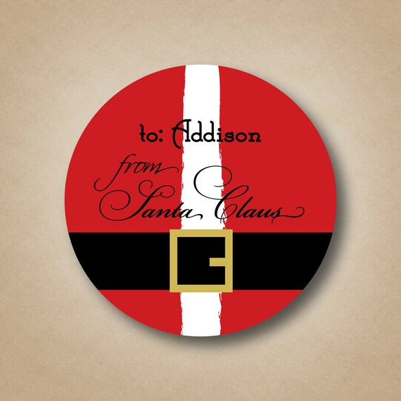 afb8124a1935 From Santa Stickers Personalized Santa Gift Labels Custom Santa Gift ...