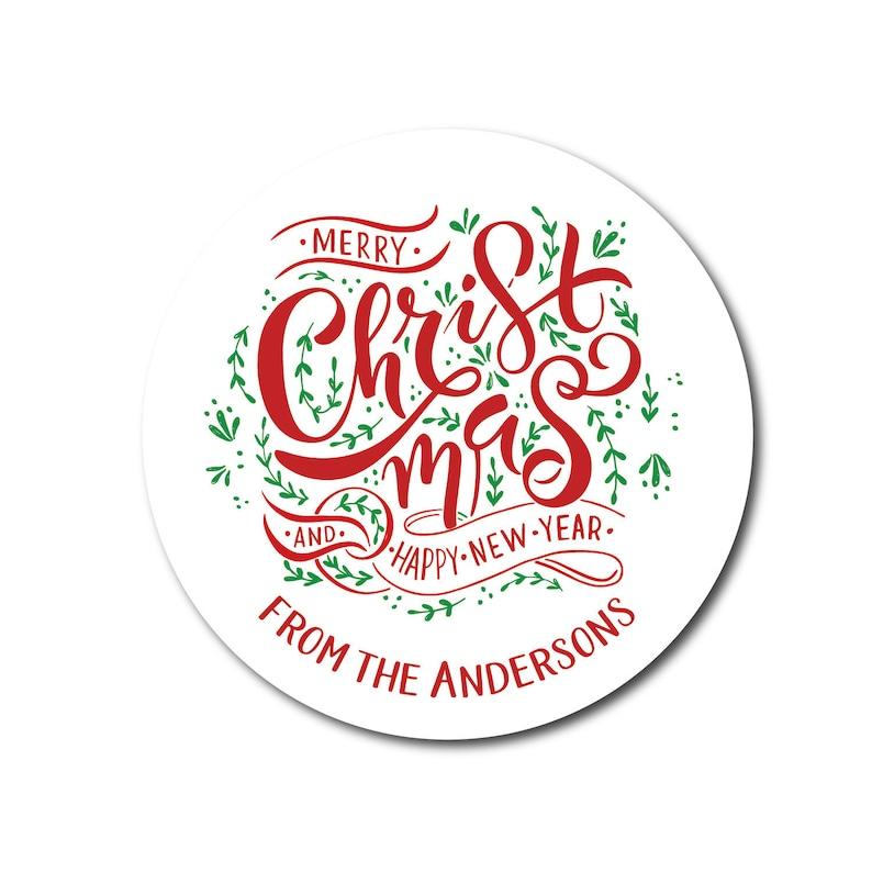 Christmas Label Christmas Sticker Christmas Gift Label image 0