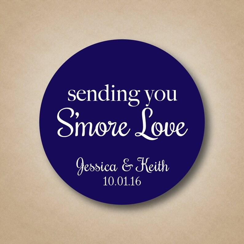 Smore Wedding Favor Sending You Smore Love Favor Stickers image 0