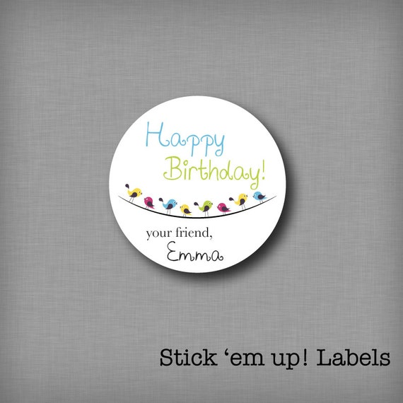 Custom Kids Birthday Present Labels Personalized Gift Tags Happy