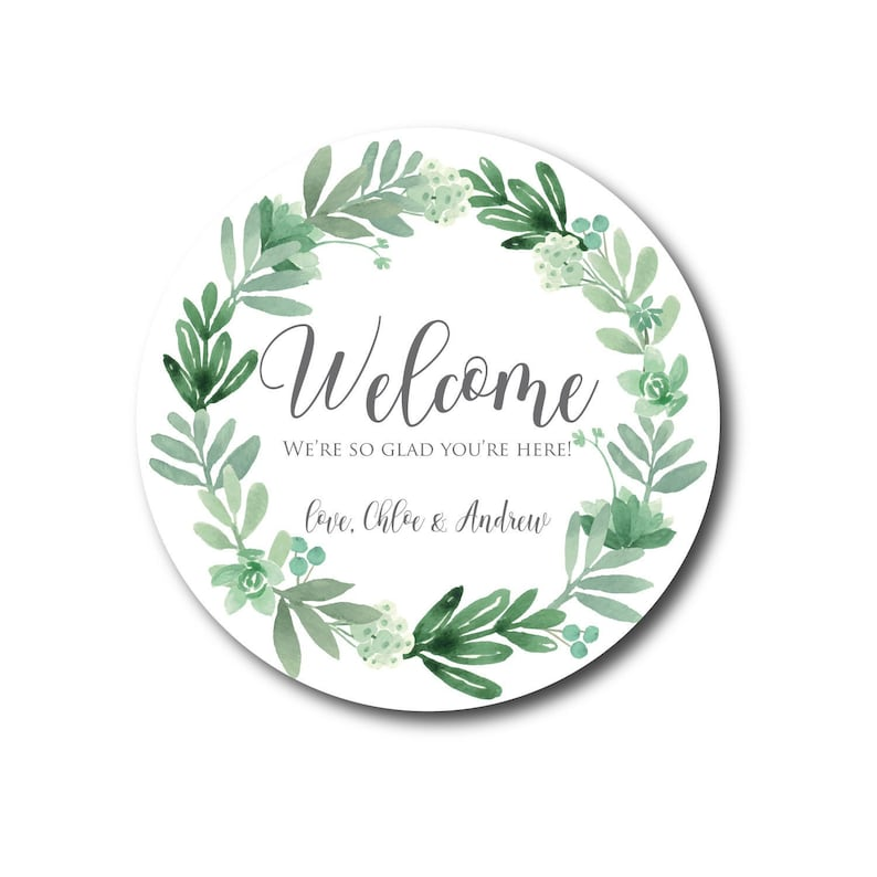 Welcome Stickers Wedding Welcome Labels Wedding Welcome Bag image 0