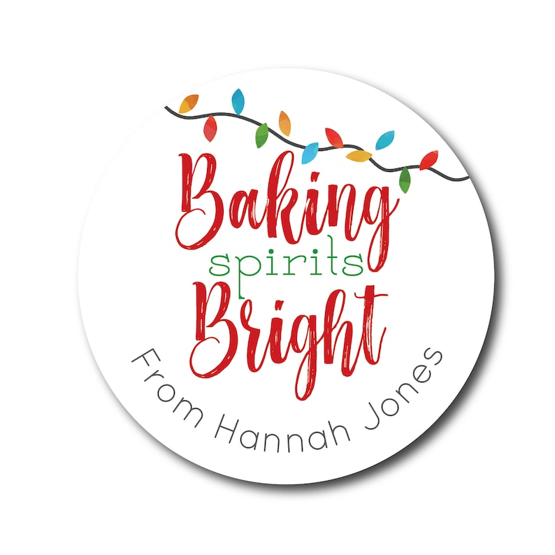 Baking Spirits Bright Stickers Christmas Stickers From the image 0