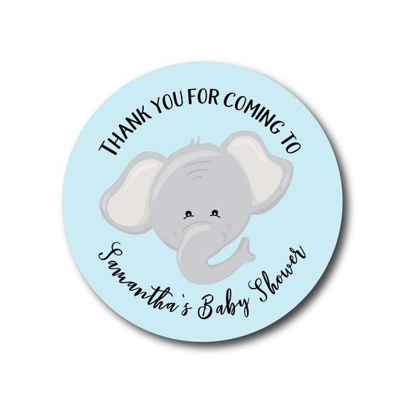 Elephant Baby Shower Stickers Elephant Shower Labels Elephant Baby