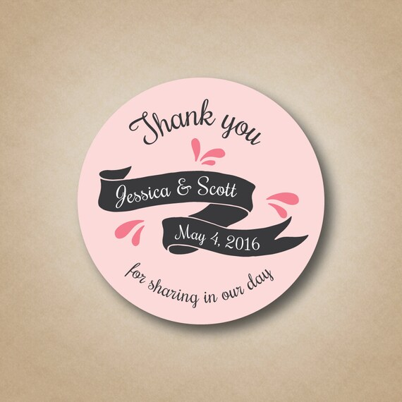 Wedding Favor Sticker Wedding Favor Labels Wedding Favor Tags Etsy