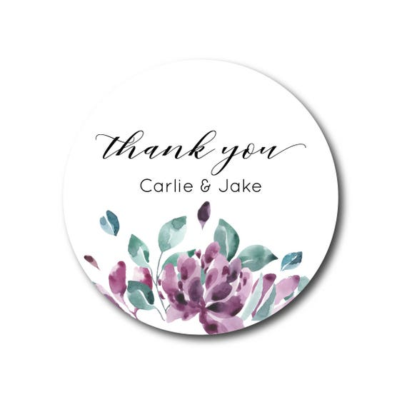 Personalized Pink Floral Bridal Shower or Wedding Favor Labels, Bridal Shower Party Favors, Wedding Favors,30 stickers per page, STICKERS ONLY :