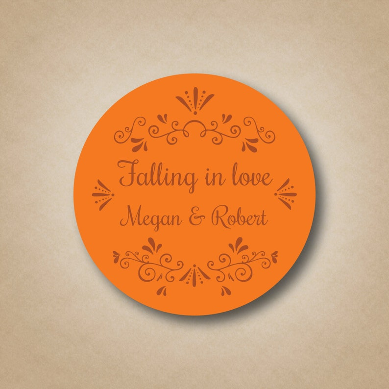 Fall Wedding Favors Falling in love stickers Autumn Wedding image 0