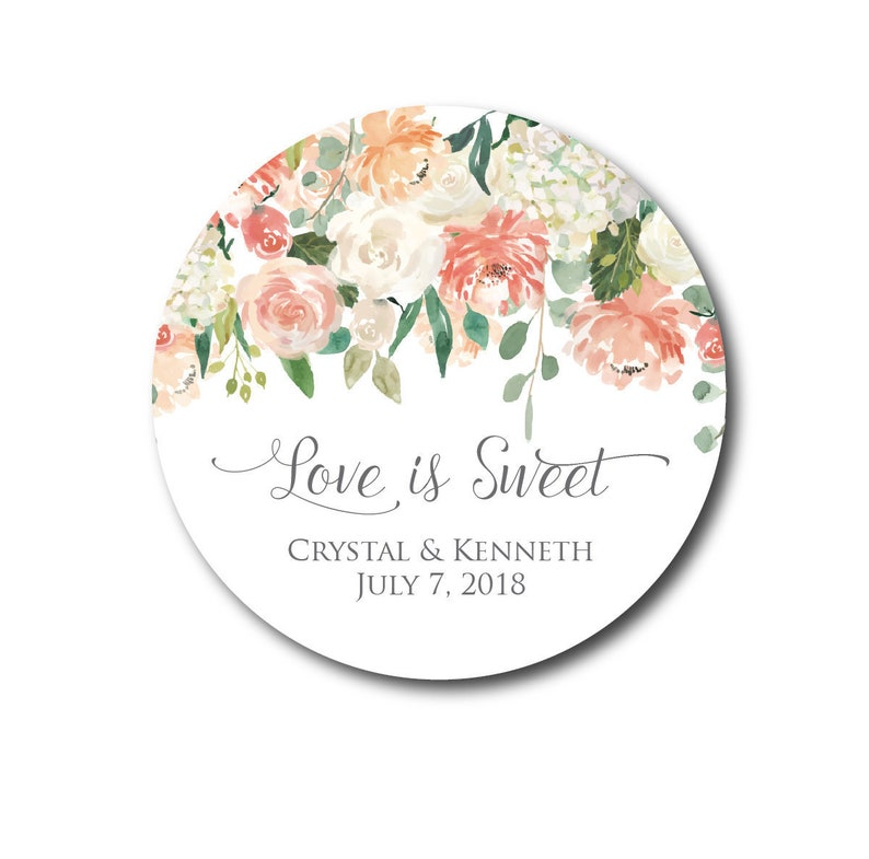 Wedding Stickers Wedding Favor Stickers  Love is Sweet image 0