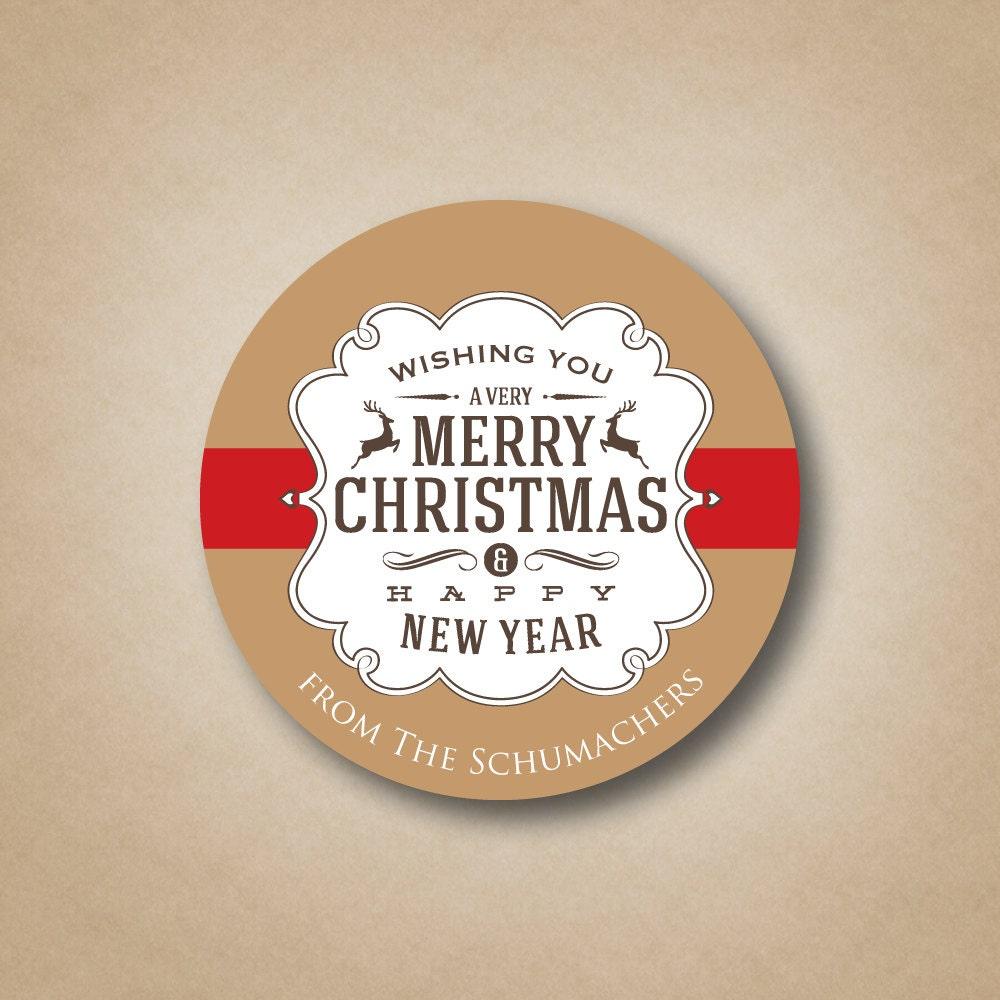 Christmas Sticker Subway Art Merry Christmas Happy New Year   Etsy