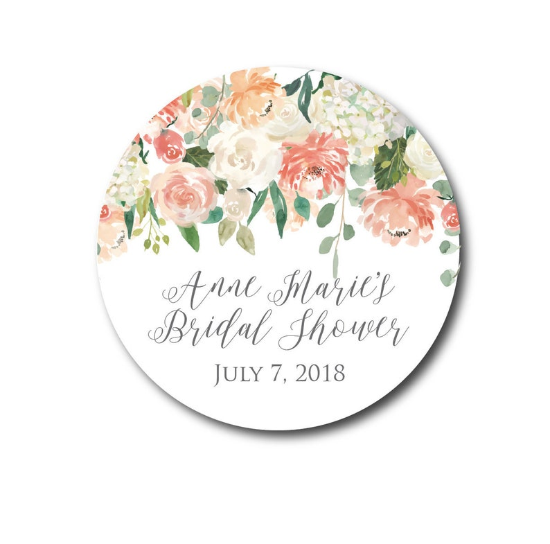 Bridal Shower Stickers Shower Favors Shower Stickers Shower image 0