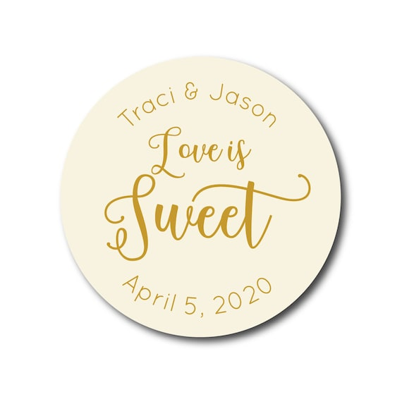Wedding Stickers Thank You Stickers Favor Stickers Love Is Sweet