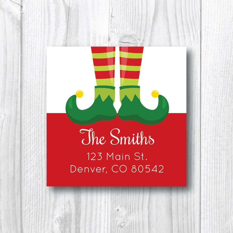 Holiday Address Labels Return Address Labels Christmas Address | Etsy