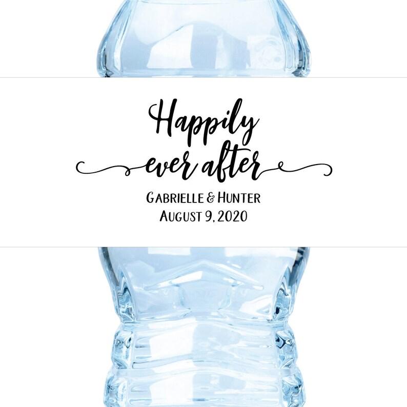 Water Bottle Label Wedding Water Bottle Label Waterbottle image 0