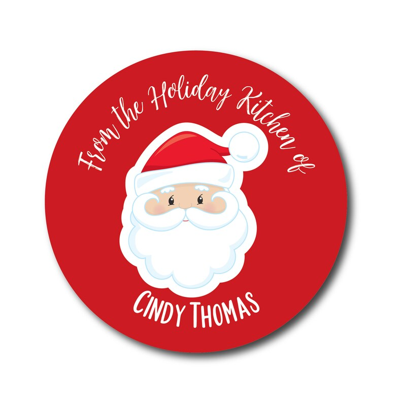 Santa Christmas Stickers From the Kitchen of Baking Labels image 0