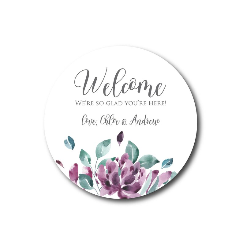 Welcome Wedding Stickers Welcome Stickers Labels Wedding image 0