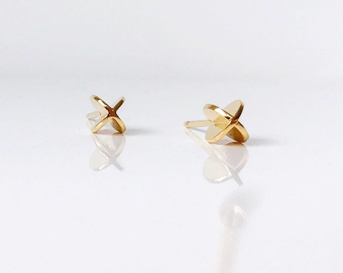 XX PEARL STUDS in vermeil - made to order