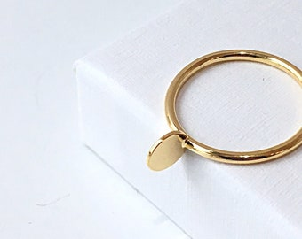 II PEARL RING in recycled 18kt gold - made to order