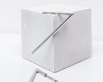 ANGULAR earrings silver - ooak