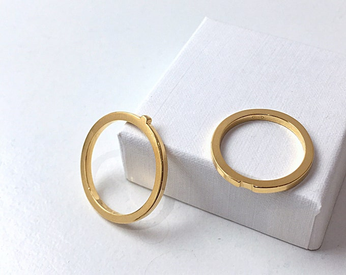 CONNECTED weddingband set in 18ct recycled gold - made to order