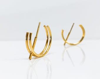 STRUCTURE I earrings in vermeil