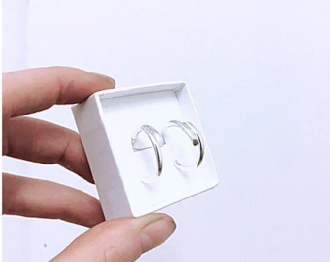 DOUBLE TROUBLE earrings in silver