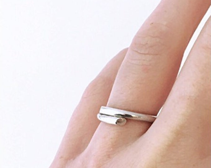 DOUBLE TROUBLE ring silver - made to order