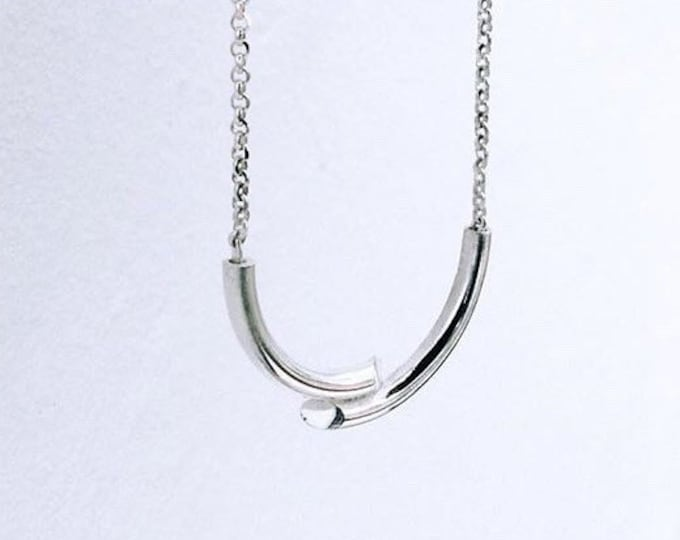 DOUBLE TROUBLE necklace in silver