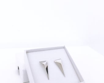 FOLD earrings silver - made to order