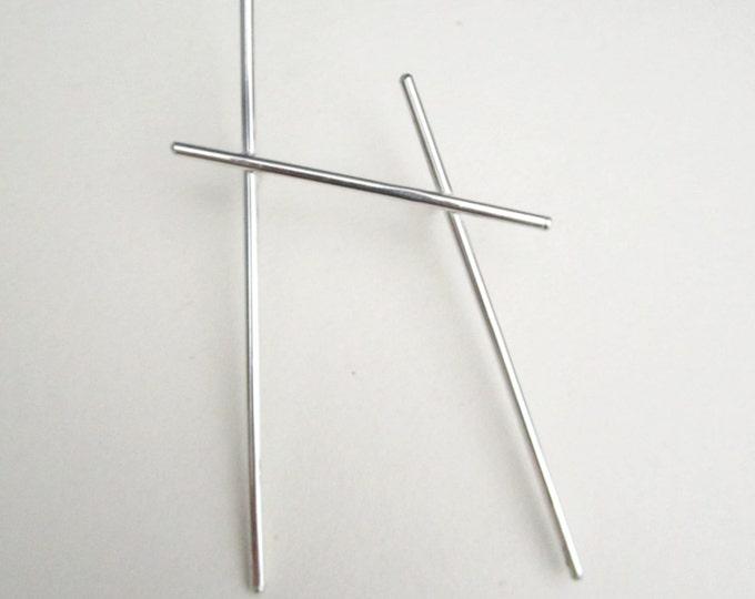 Silver brooch minimal brooch lines unisex