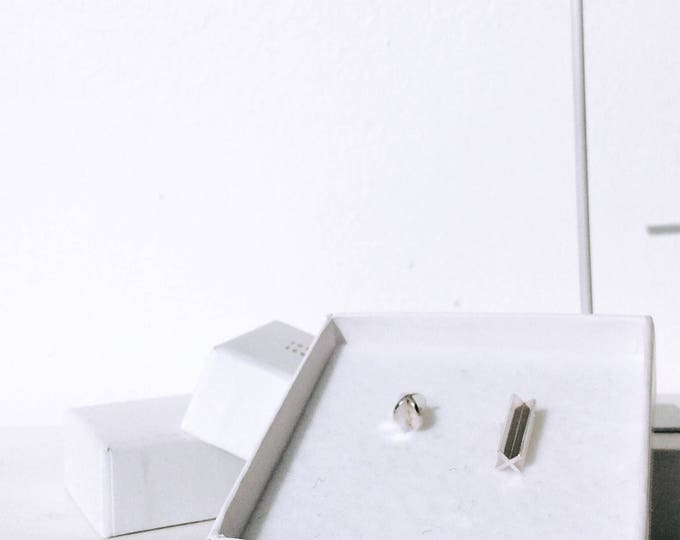 XX DUO stud earrings in silver - made to order
