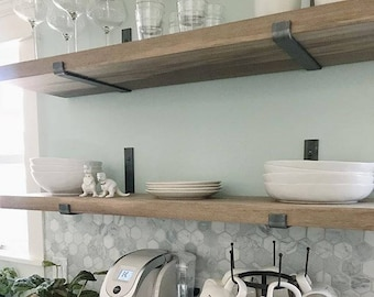 Charmant Steel Shelf Bracket   Modern Kitchen Open Shelving, Iron Shelf Bracket,  Industrial Kitchen Brackets, Metal Shelf Brackets, Custom