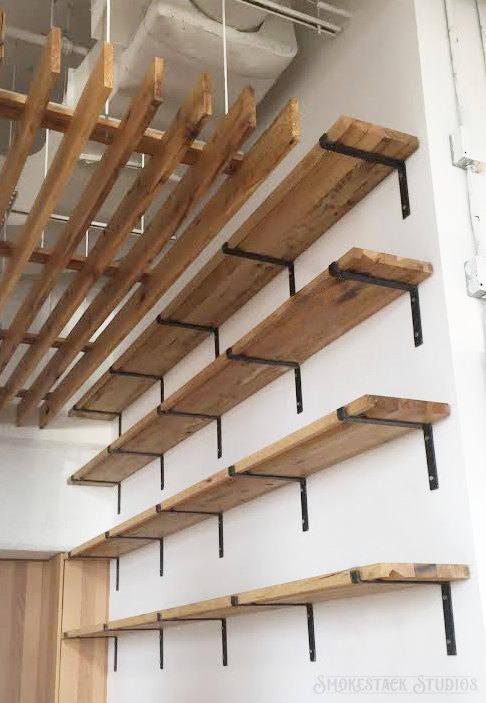 steel shelf bracket modern kitchen open shelving iron shelf etsy. Black Bedroom Furniture Sets. Home Design Ideas