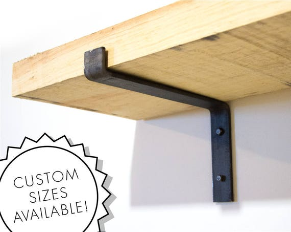 Steel Shelf Bracket Modern Kitchen Open Shelving Iron