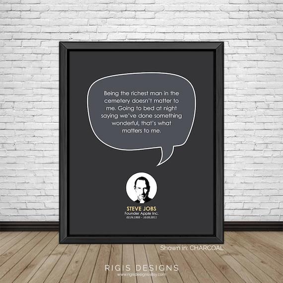 Bekende Citaten Steve Jobs : Steve jobs beroemde citaten inspirerende etsy