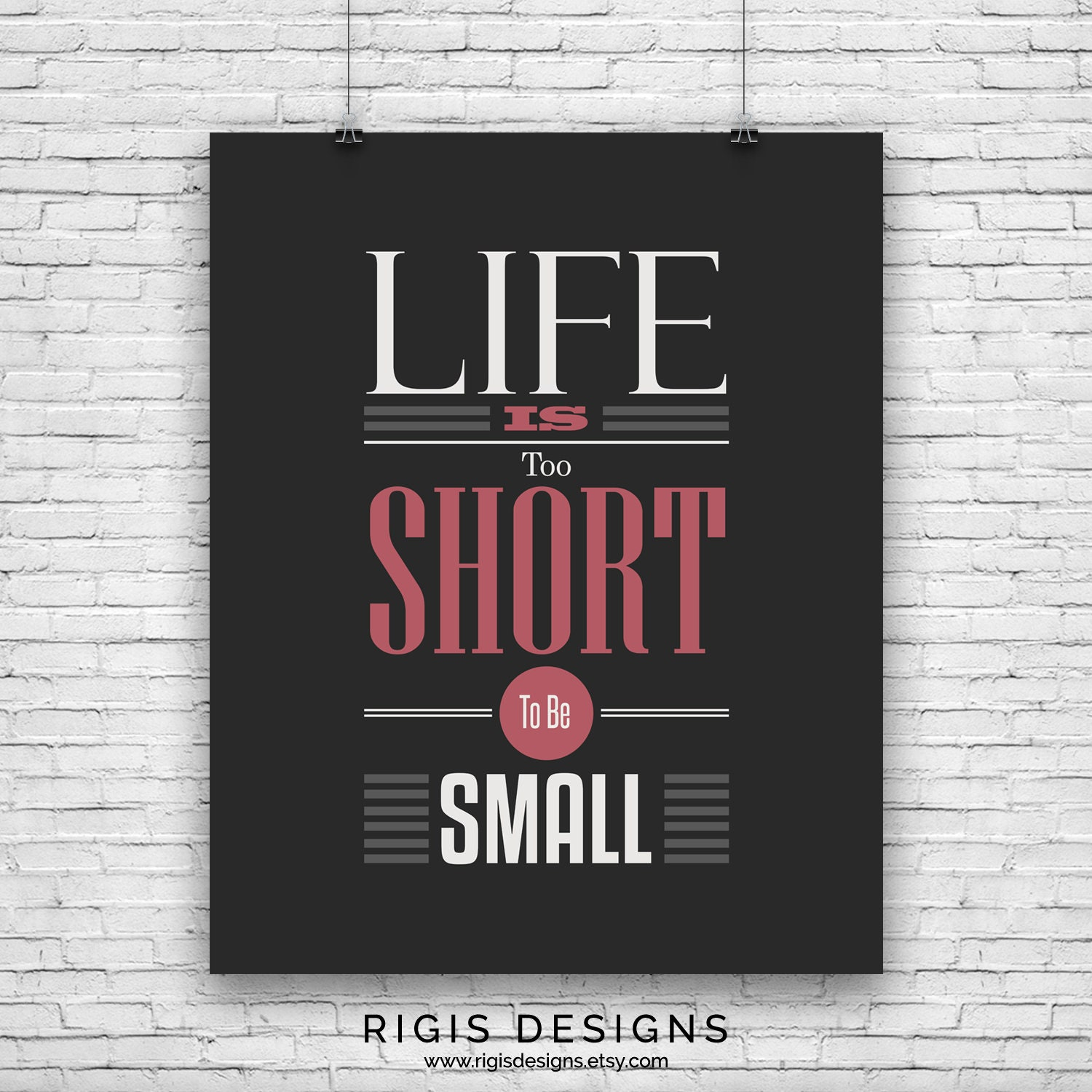 Life is Too Short, Gym Motivation Poster