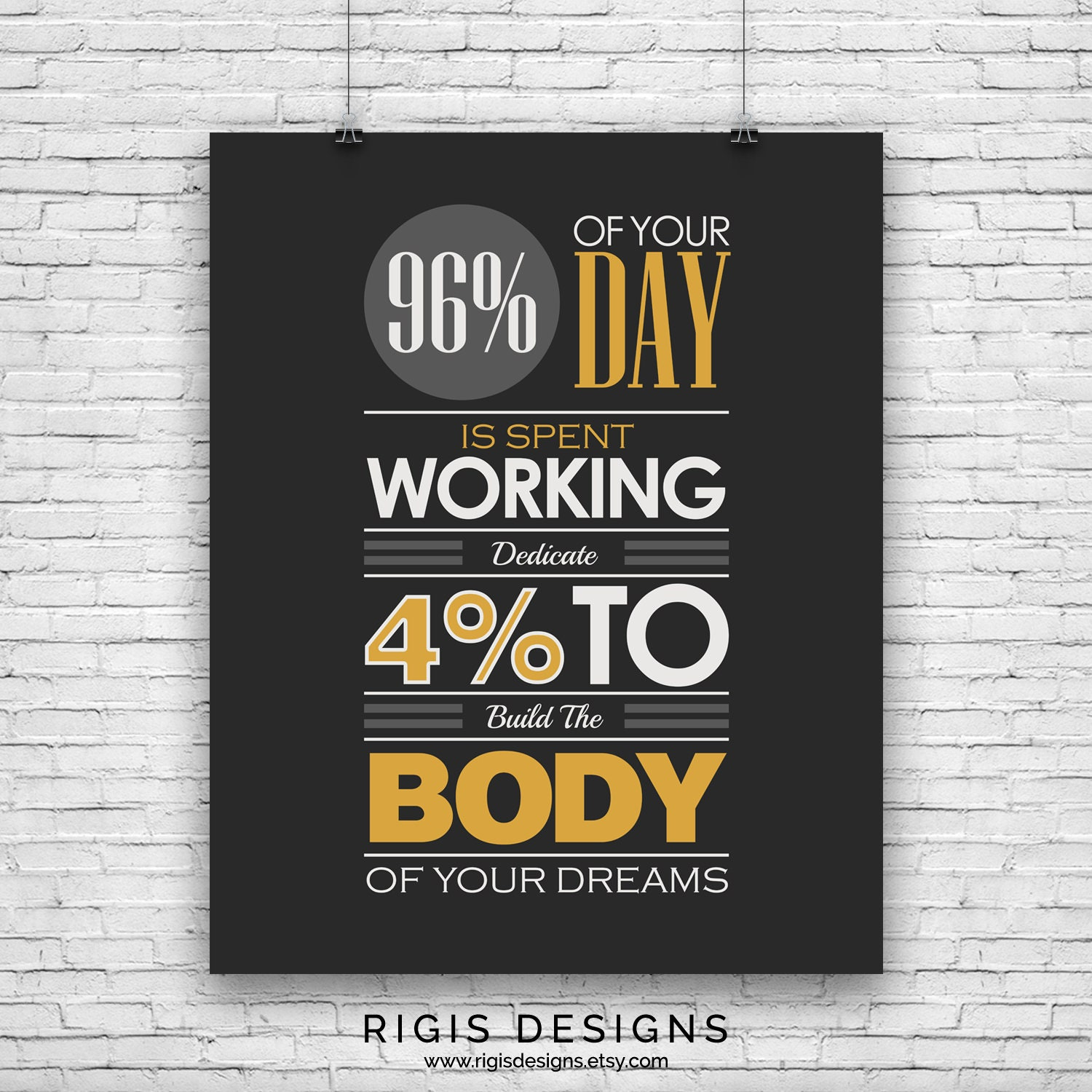 Build the Body of Your Dreams, Gym Motivation Poster