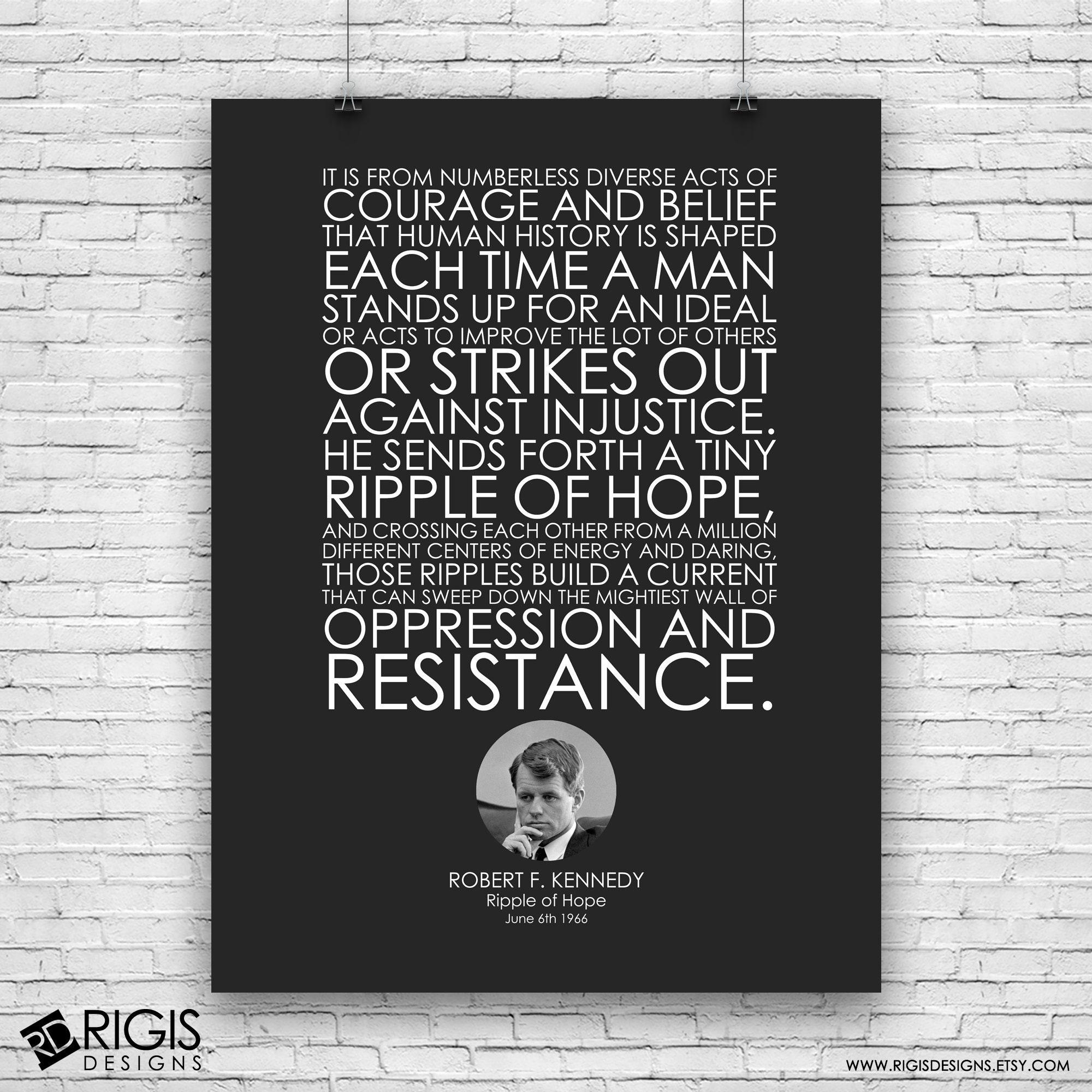 Robert F. Kennedy, Ripple of Hope Speech