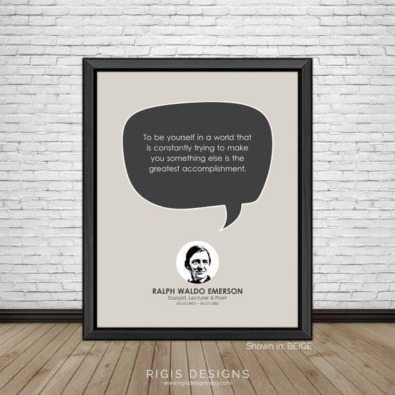 Ralph Waldo Emerson Słynne Cytaty Inspirujące Cytaty Etsy