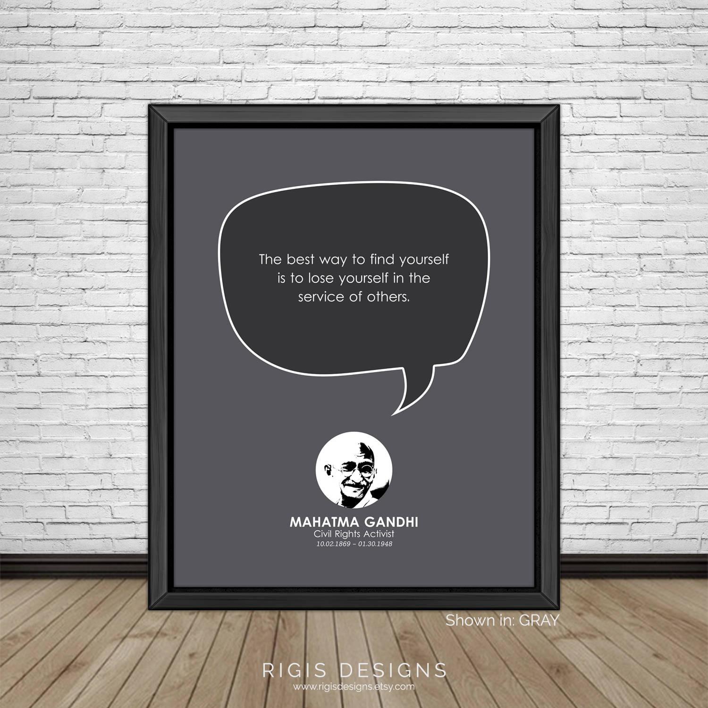 Mahatma Gandhi Quote, Civil Rights Activist
